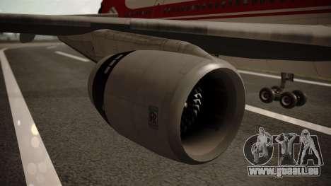 Lockheed L-1011 Air Lanka pour GTA San Andreas vue de droite