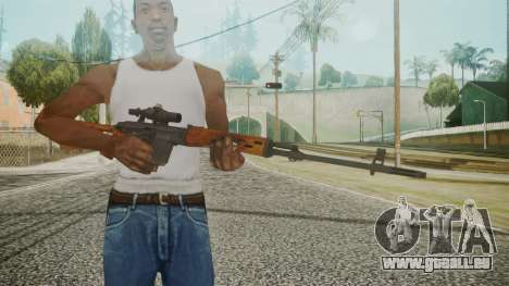 SVD Battlefield 3 für GTA San Andreas dritten Screenshot