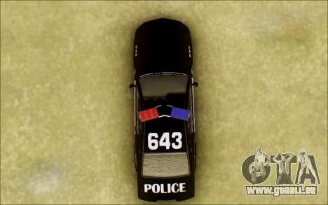Schale Dominator Transformatoren Polizei Auto für GTA San Andreas Innenansicht