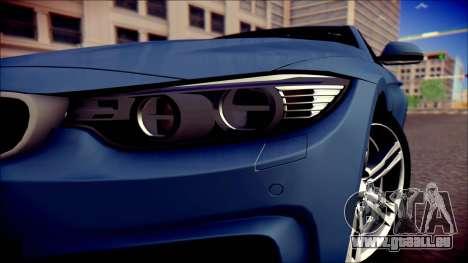 BMW 4 Series Coupe M Sport pour GTA San Andreas vue de droite