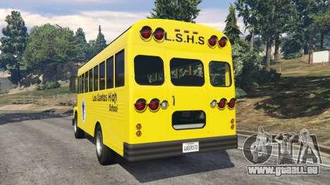 GTA 5 Classique autobus scolaire arrière vue latérale gauche
