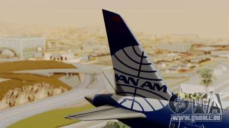 Boeing 787-9 Pan AM pour GTA San Andreas sur la vue arrière gauche