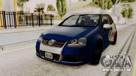 Volkswagen Golf R32 NFSMW05 Sonny PJ pour GTA San Andreas vue arrière