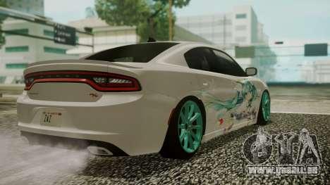 Dodge Charger RT 2015 Hatsune Miku pour GTA San Andreas vue de côté