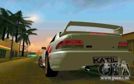 Subaru Impreza 22B STI - Itasha pour GTA San Andreas vue de droite