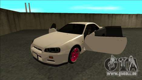 Nissan Skyline R34 Drift JDM pour GTA San Andreas vue arrière