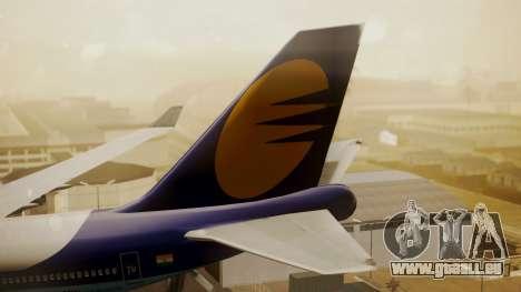 Boeing 747-400 Jat Airways pour GTA San Andreas sur la vue arrière gauche