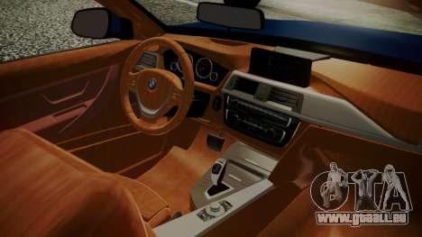 BMW M4 F32 Convertible 2014 pour GTA San Andreas sur la vue arrière gauche