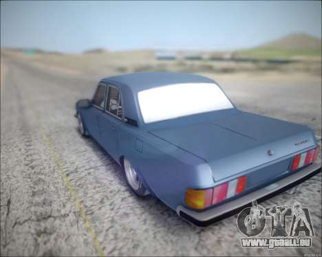 Volga 3102 pour GTA San Andreas sur la vue arrière gauche