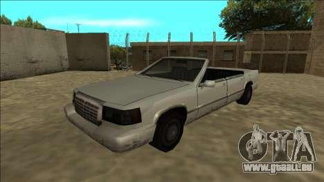 Stretch Sedan Cabrio für GTA San Andreas zurück linke Ansicht
