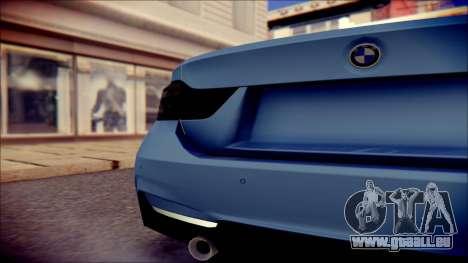 BMW 4 Series Coupe M Sport pour GTA San Andreas vue arrière