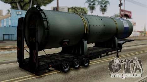 Overweight Trailer Black pour GTA San Andreas laissé vue