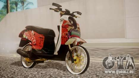 Honda Scoopy New Red für GTA San Andreas