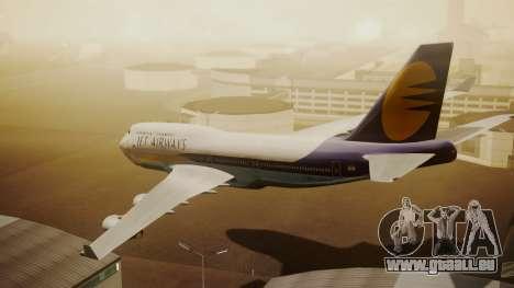 Boeing 747-400 Jat Airways für GTA San Andreas linke Ansicht