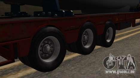 Overweight Trailer Stock für GTA San Andreas zurück linke Ansicht