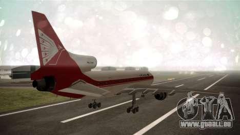 Lockheed L-1011 Air Lanka pour GTA San Andreas laissé vue