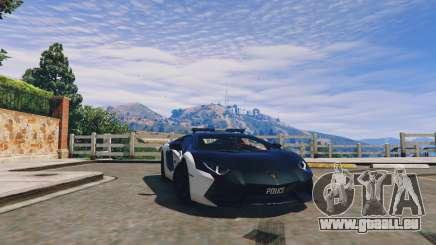Lamborghini Aventador Police pour GTA 5