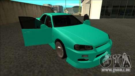 Nissan Skyline ER34 Drift für GTA San Andreas Unteransicht