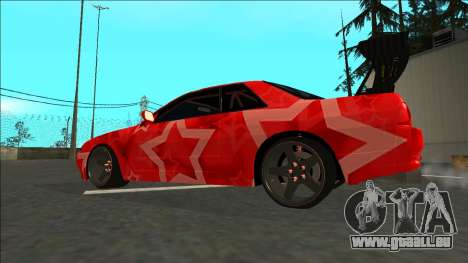 Nissan Skyline R32 Drift Red Star für GTA San Andreas linke Ansicht