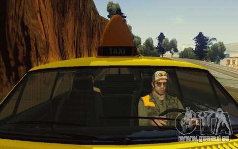 Albany Lurcher Taxi pour GTA San Andreas vue de côté
