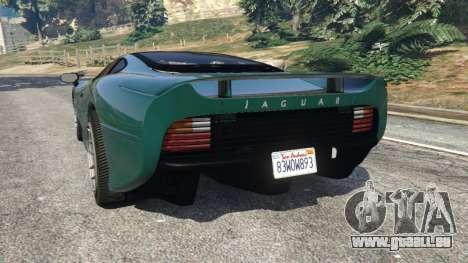 GTA 5 Jaguar XJ220 v0.8 arrière vue latérale gauche
