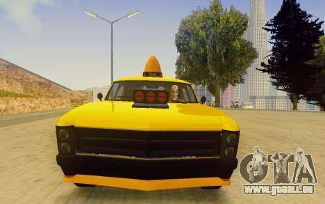 Albany Lurcher Taxi pour GTA San Andreas vue arrière