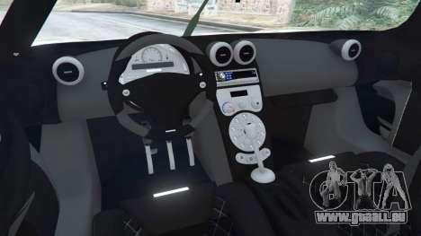 GTA 5 Koenigsegg CCX [Beta] arrière droit vue de côté