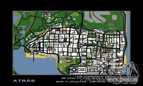 HD Radar Icons pour GTA San Andreas deuxième écran