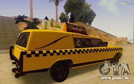 Albany Lurcher Taxi pour GTA San Andreas sur la vue arrière gauche