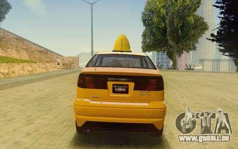 Karin Dilettante Taxi für GTA San Andreas linke Ansicht