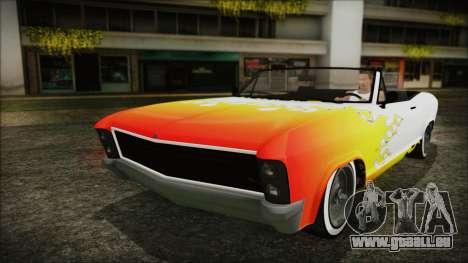GTA 5 Albany Buccaneer Bobble Version pour GTA San Andreas vue de dessus
