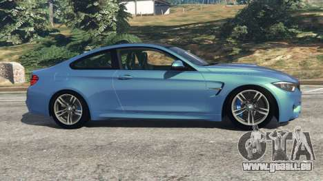 GTA 5 BMW M4 2015 vue latérale gauche