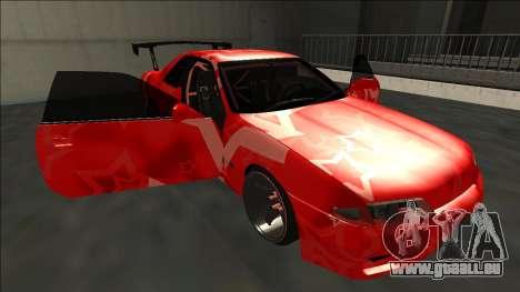 Nissan Skyline R32 Drift Red Star pour GTA San Andreas vue de dessous