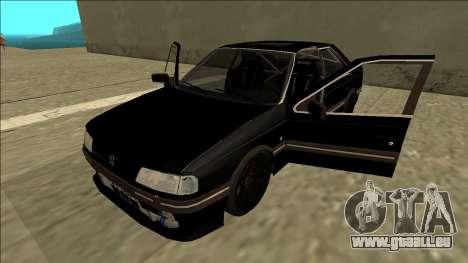 Peugeot 405 Drift für GTA San Andreas Rückansicht