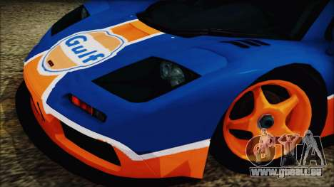 McLaren F1 GTR 1996 Gulf pour GTA San Andreas sur la vue arrière gauche