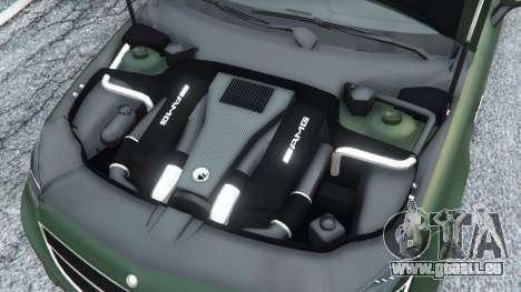 GTA 5 Mercedes-Benz CLS 63 AMG v1.0 arrière droit vue de côté