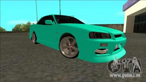 Nissan Skyline ER34 Drift pour GTA San Andreas vue de droite