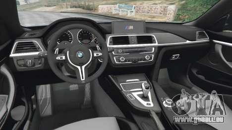 GTA 5 BMW M4 2015 arrière droit vue de côté