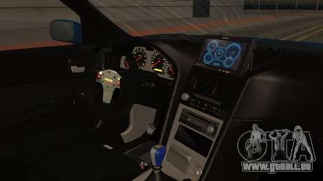 Nissan Skyline R34 FnF 4 pour GTA San Andreas vue de droite