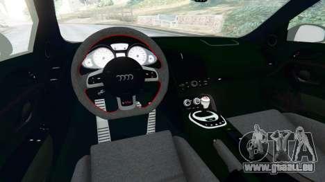 GTA 5 Audi R8 [LibertyWalk] arrière droit vue de côté