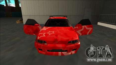 Nissan Skyline R32 Drift Red Star für GTA San Andreas obere Ansicht