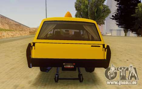 Albany Lurcher Taxi pour GTA San Andreas vue de droite