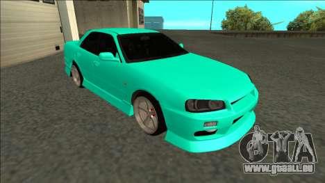 Nissan Skyline ER34 Drift pour GTA San Andreas laissé vue