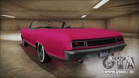 GTA 5 Albany Buccaneer Bobble Version für GTA San Andreas linke Ansicht