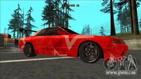 Nissan Skyline R32 Drift Red Star für GTA San Andreas rechten Ansicht
