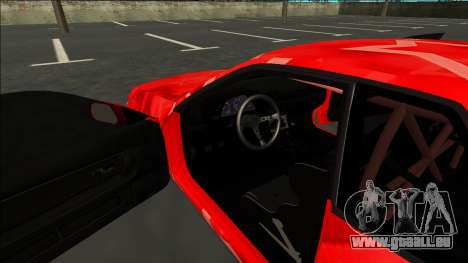 Nissan Skyline R32 Drift Red Star pour GTA San Andreas vue intérieure