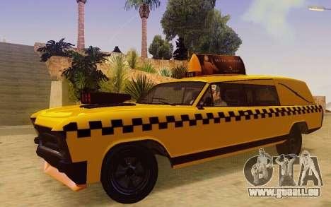 Albany Lurcher Taxi pour GTA San Andreas laissé vue