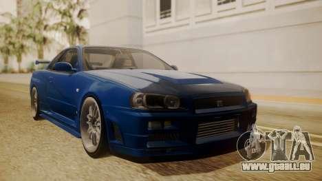 Nissan Skyline R34 FnF 4 pour GTA San Andreas