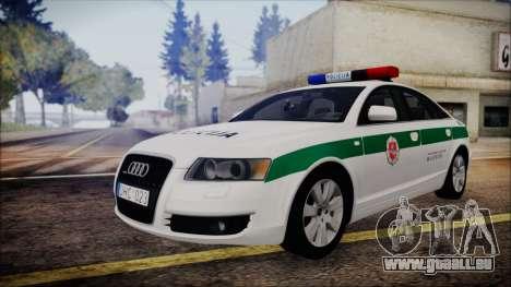 Audi A6 C6 Lithuanian Police für GTA San Andreas