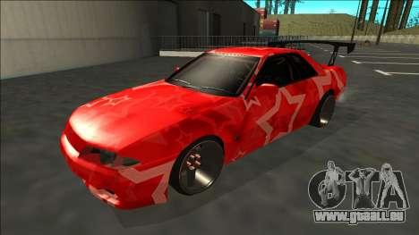 Nissan Skyline R32 Drift Red Star für GTA San Andreas